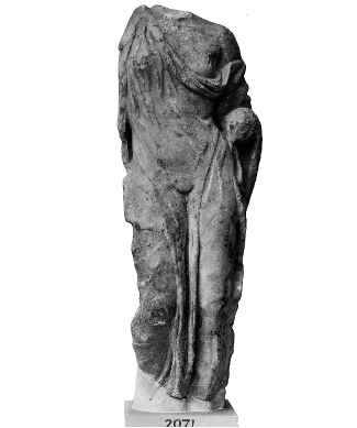 Hellenistic copy of the original fifth century BCE statue of Aphrodite; Made in Attica (Greece), found at the Theatre of Dionysos; image is from British Museum: https://www.britishmuseum.org/collection/object/G_1866-0319-1