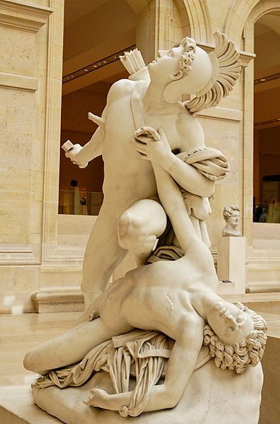 Nisus and Euryalus. Marble, exhibited at the 1827 Salon. A plaster model was exhibited at the 1822 Salon.