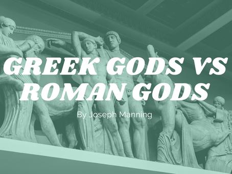 Greek Gods vs Roman Gods - by Joseph Manning