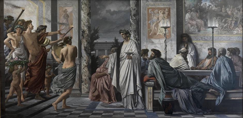 Plato's Symposium. Anselm Feuerbach, 1869.
