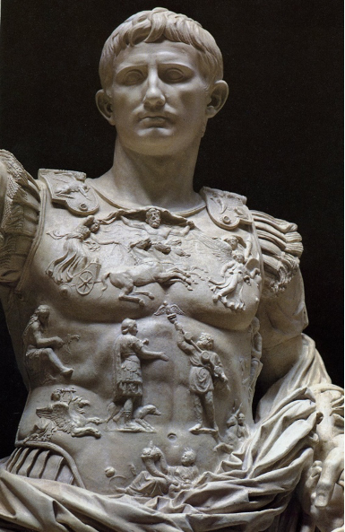 The Prima Porta statue of Augustus, c. 20 BC