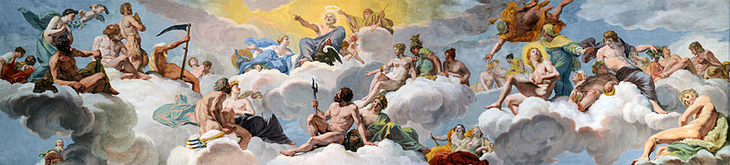 """""""Council of the gods"""", Giovanni Lanfranco (1582)"""
