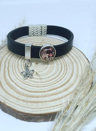 Bracelet Cuir et Cabochons