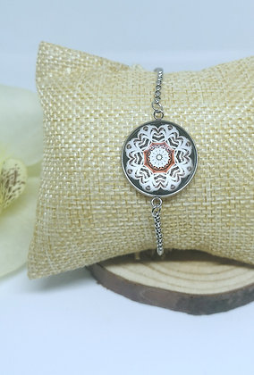 Bracelet cabochon Mandala