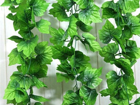Artificial Ivy Foliage String 2.5 meter Green Large Leaves