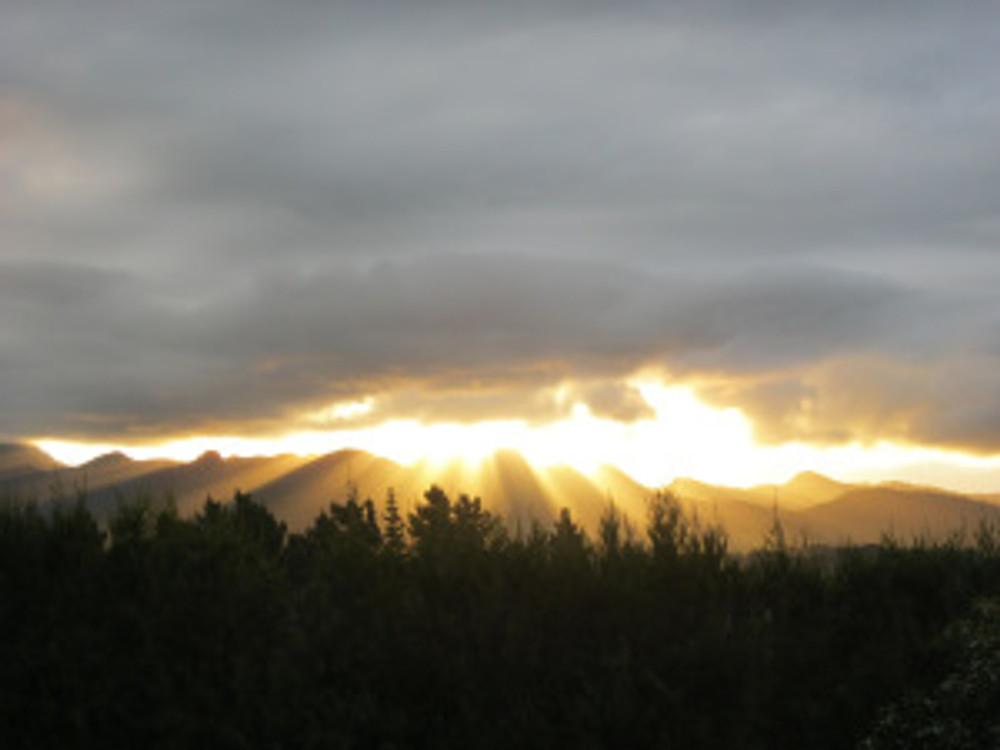 Kaimai Ranges sunset, Western Bay of Plenty
