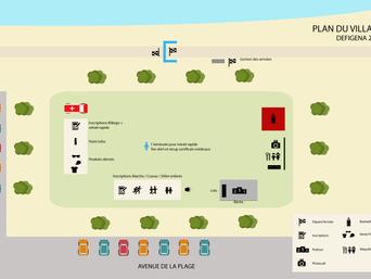Parcours et village Defigena : les plans 2019 !