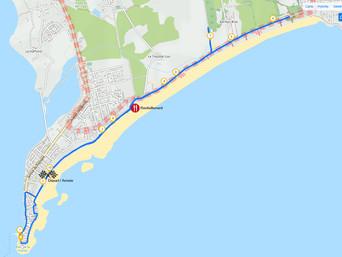 Plan du parcours de la course de 10 km