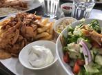 Chicken Shawarma Plate with Fatoush Salad