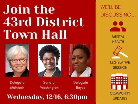 43rd District Virtual Town Hall