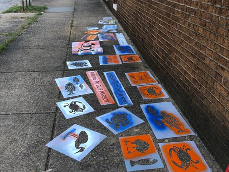 Storm drain painting in Abell