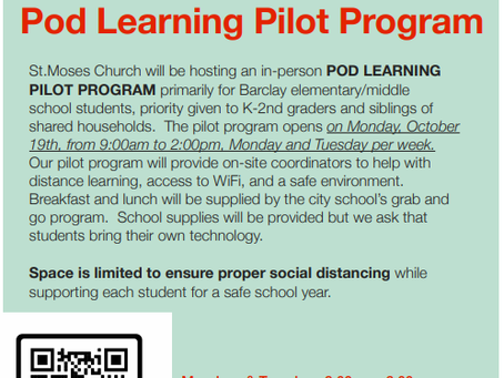 St. Moses pod learning pilot program still has space