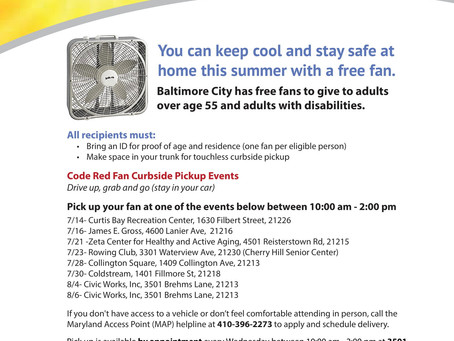 Free fans are available for seniors