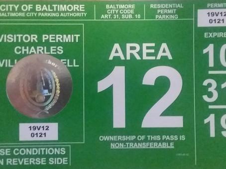 Parking Pass Online Renewal Begins September 20; Pick-up on October 19