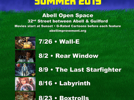 Abell Friday Movie Nights to run July 26 - September 6