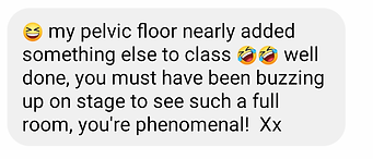 Testimonial for dance fitness class 4