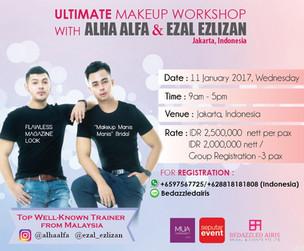 Ultimate Make Up Workshop with Alha Alfa & Ezal Ezlizan