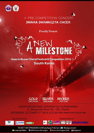 A New Milestone, Goes To Busan Choral Festival & Competition 2016 South Korea