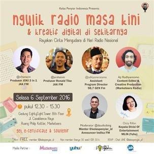 Ngulik Radio Masa Kini & Kreatif Digital di Sekitarnya