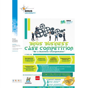 """Binus Business Case Competition """"Be a Business Changemaker"""""""