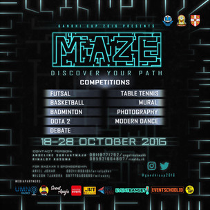 """Gandhi Cup 2016 presents """"MAZE: Discover Your Path"""""""