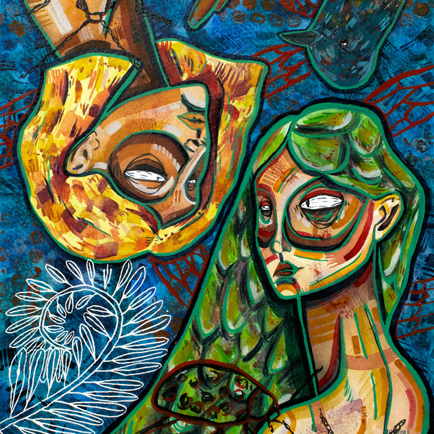 Two Mystical Ladies