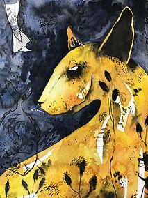 watercolor pet illustration pet portrait