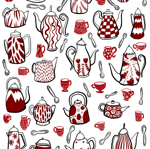 Teapots and Teacups Pattern