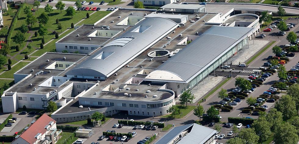 Plan de situation de la maternité de l'Hôpital Schweitzer