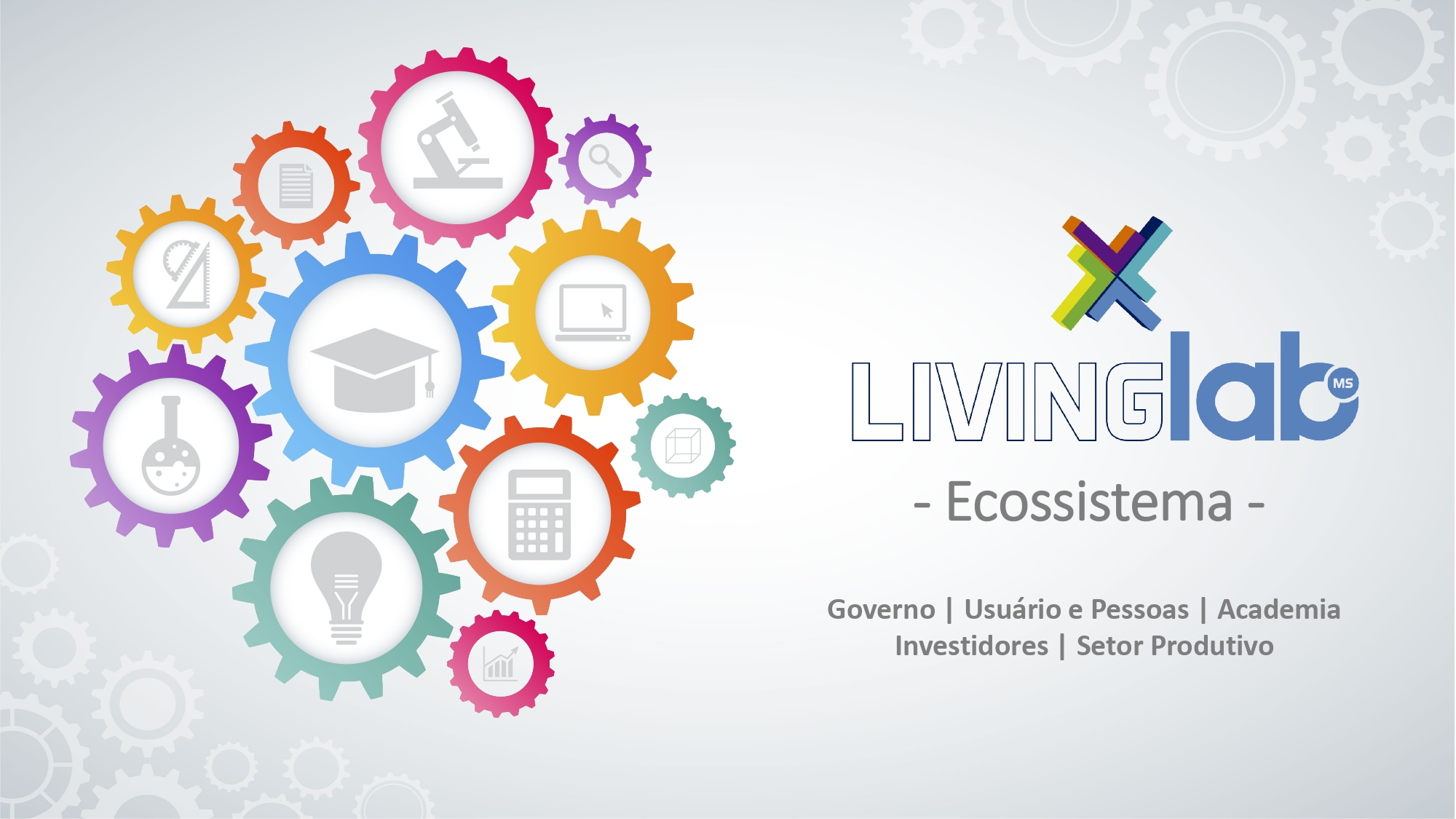 Eixos de atuação do Living Lab MS