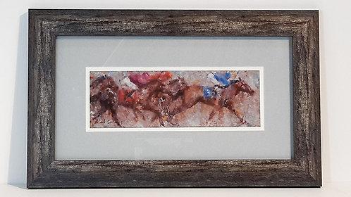 """""""Striding Along"""" Framed Print"""