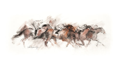 """In Stride"" Framed Giclee' Print"