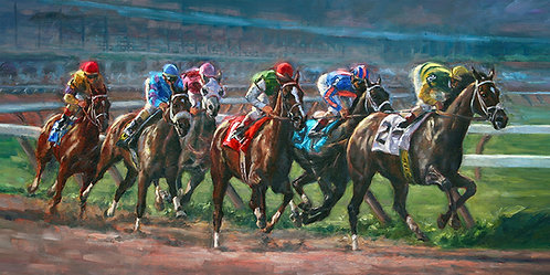 """Setting the Pace"" Framed Giclee' Print"