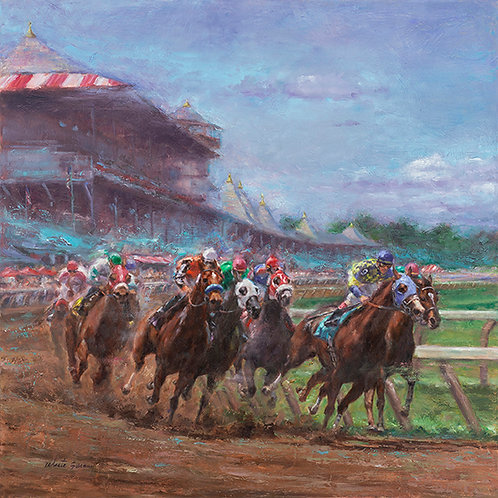 """Saratoga Summer"" Gallery Wrapped Canvas Giclee'"