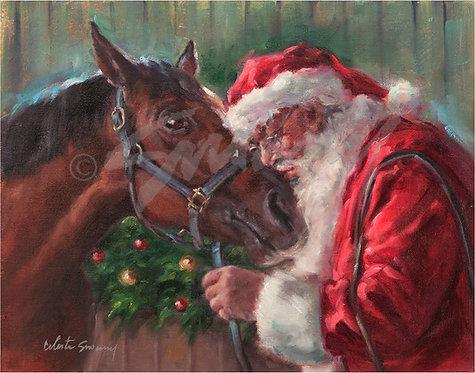 """""""Santa Kiss"""" Holiday Card"""