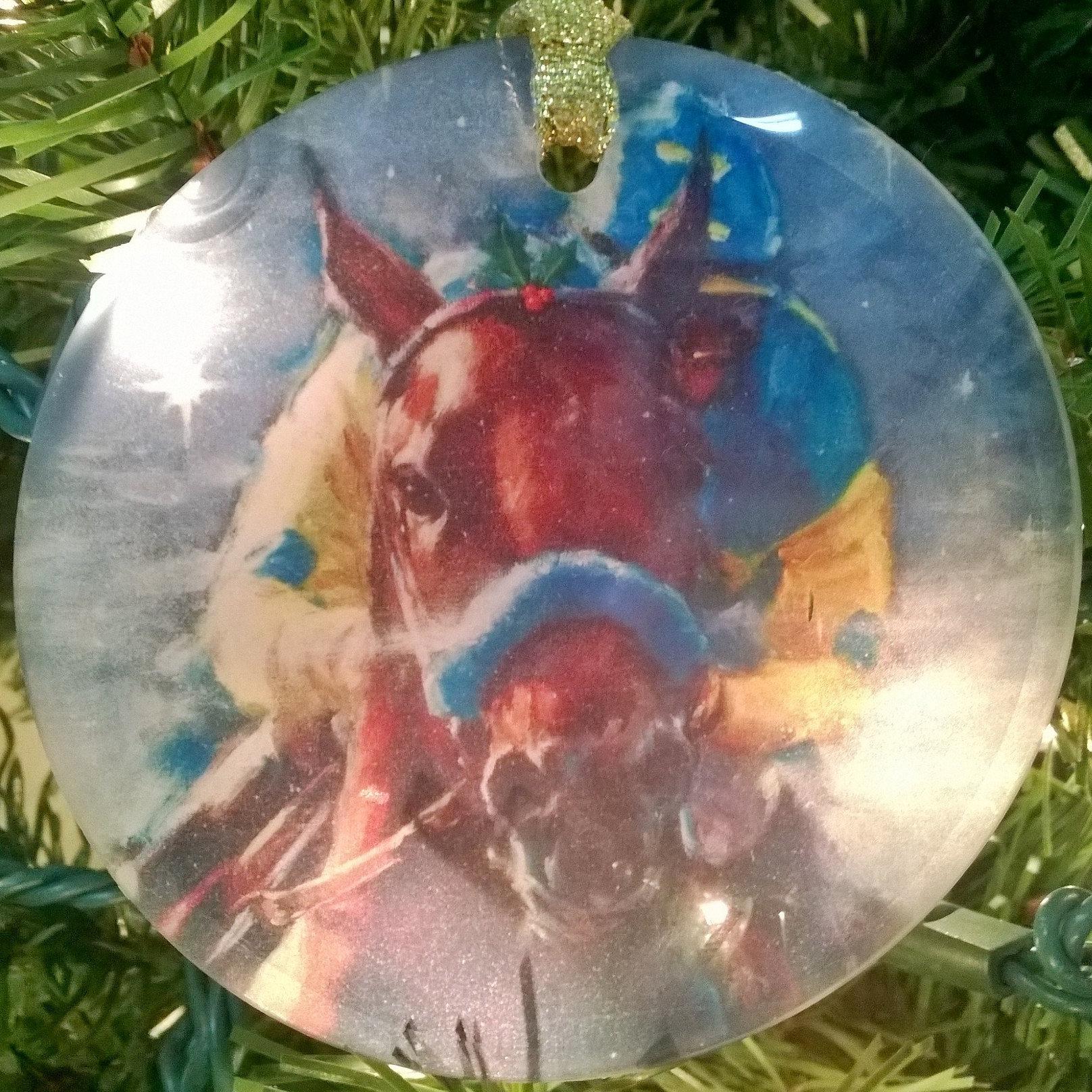 celeste-susany-art | American Pharoah - Ornament