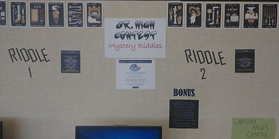 Jr. High Mystery Riddles Contest