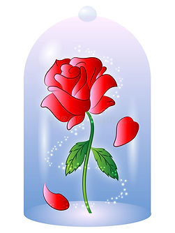 beauty-beast-rose-stock-illustrations-11