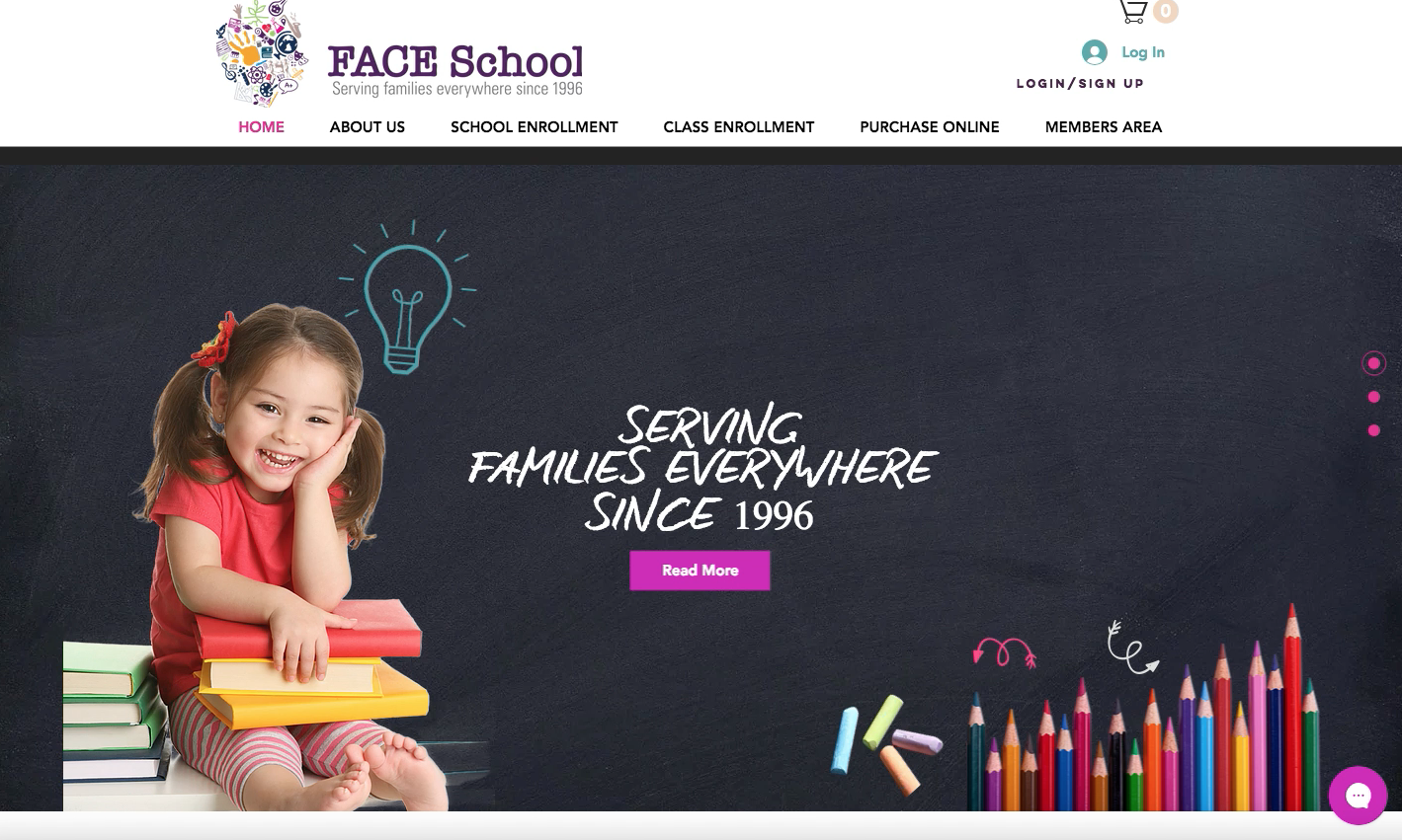 faceschool website