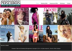 Poseidon Talent and Model Management website