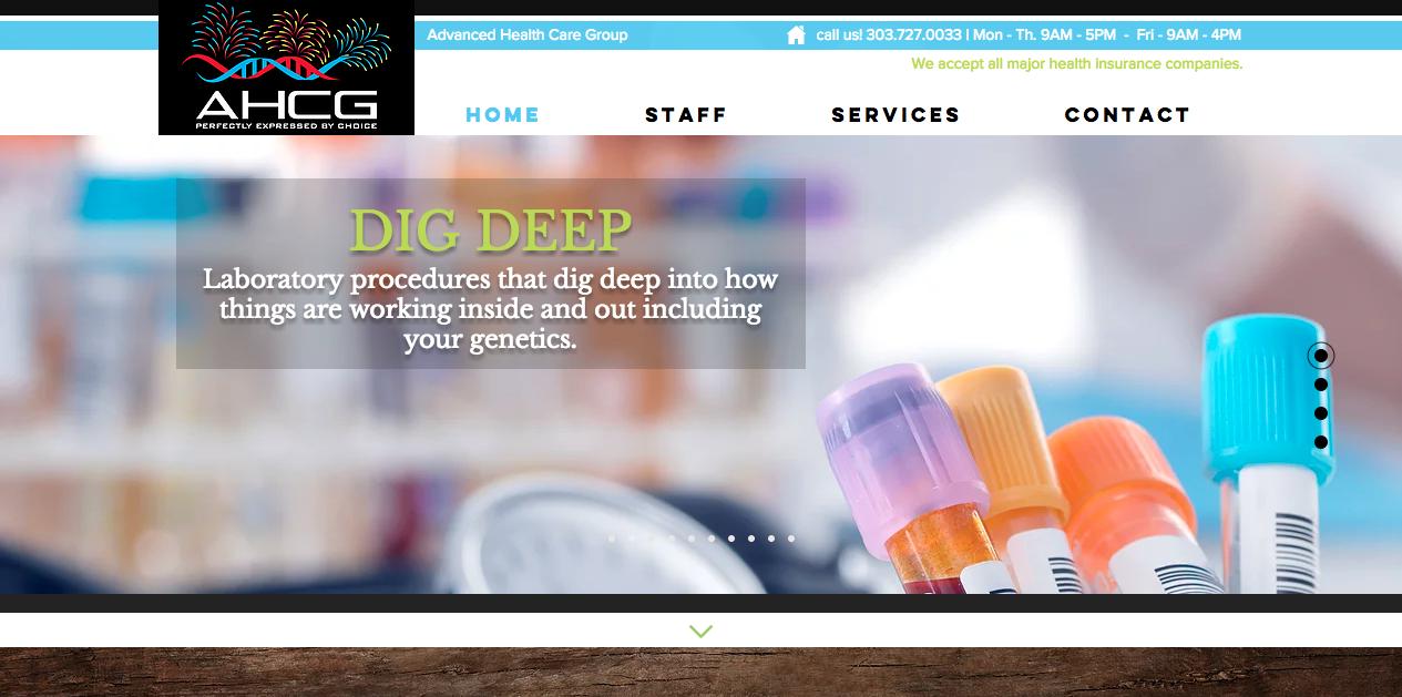 AHCG medical site