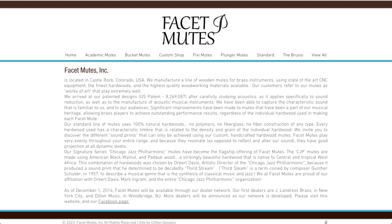 Facet Mutes Website by Clifton Designs