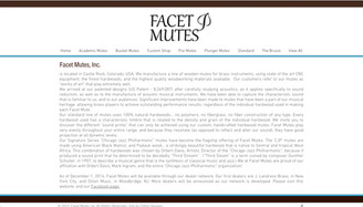 New Website Created - Facet Mutes