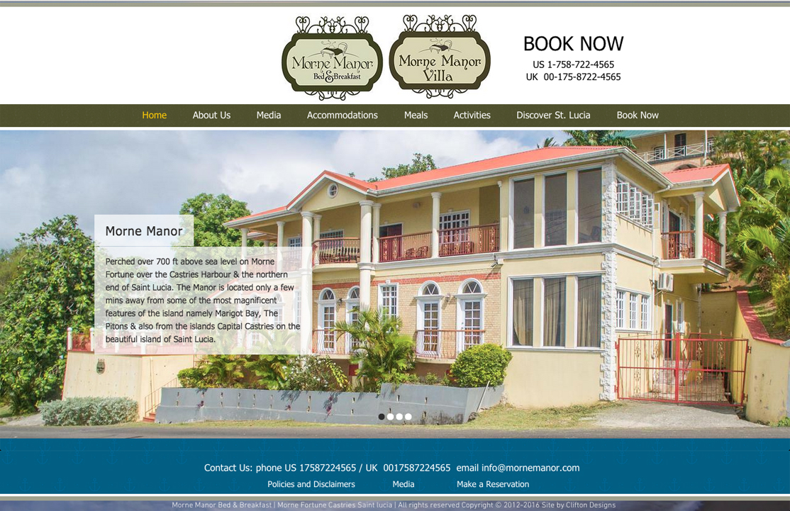 Morne Manor website