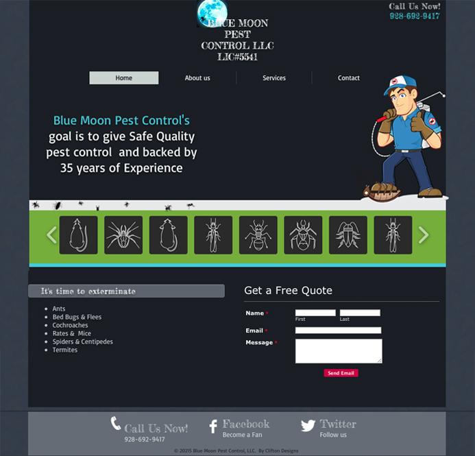 BLUE MOON WEBSITE