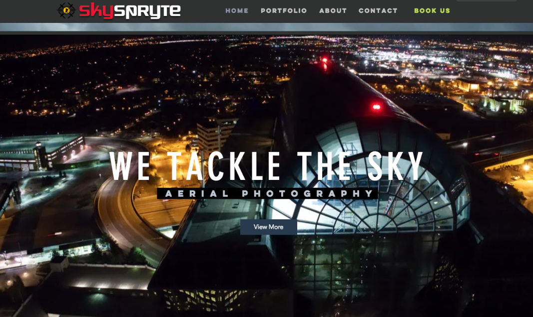 Skyspryte Drone Website