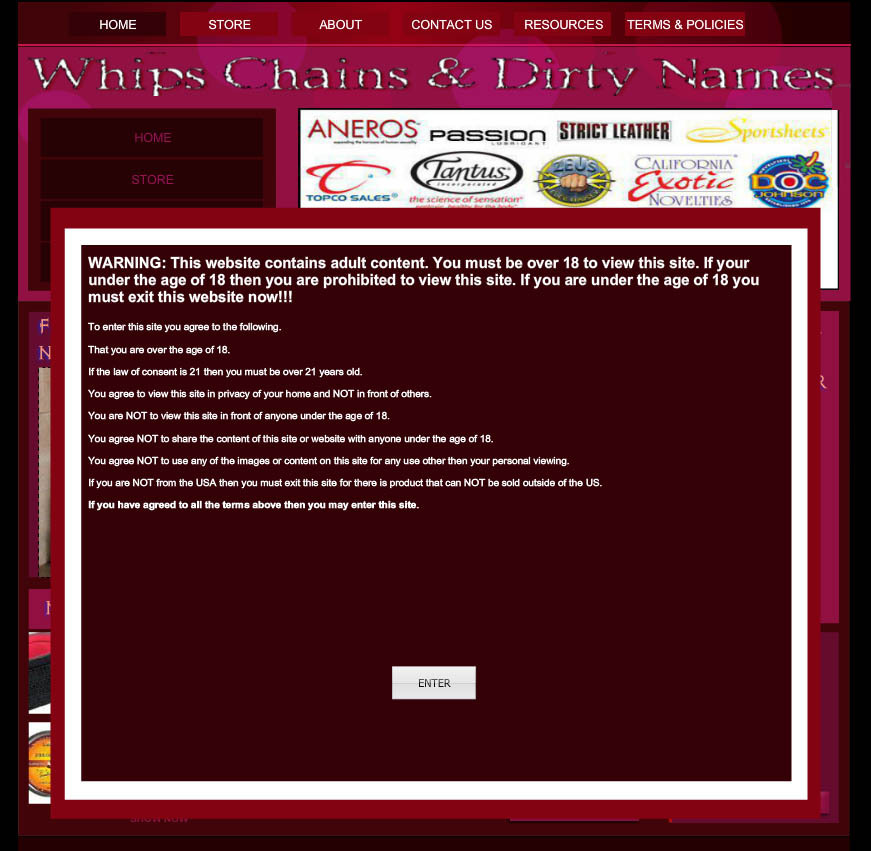 Whips and chains site