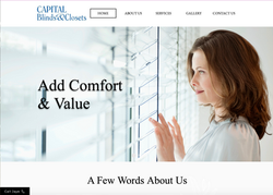 Captial Blinds and closets website