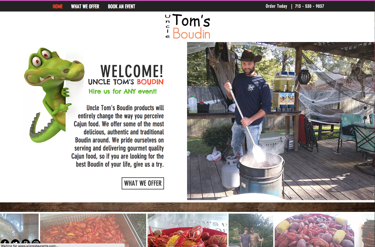 Uncle Tom's website