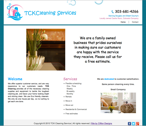 TCK Cleaning Website